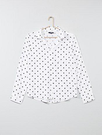 Chemise fluide à motifs - Kiabi