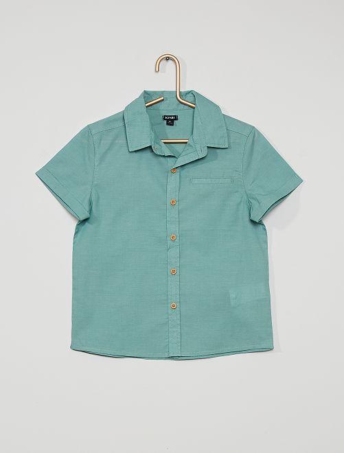 Chemise manches courtes                             bleu