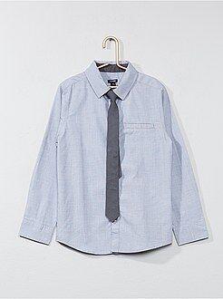 Chemise manches longues - Chemise manches longues + cravate