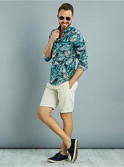 Homme du S au XXL Chemise manches longues imprimé 'jungle'