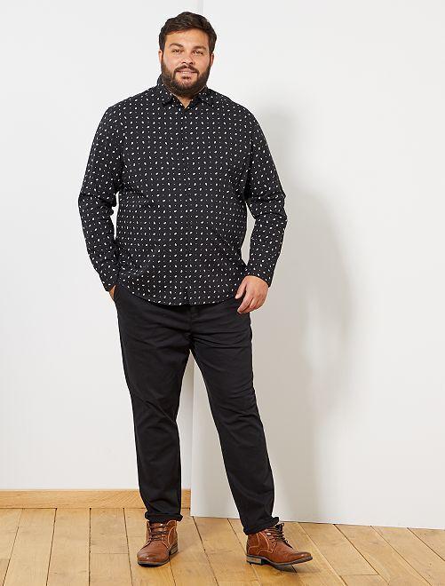 Chemise motif cachemire                                         noir Grande taille homme