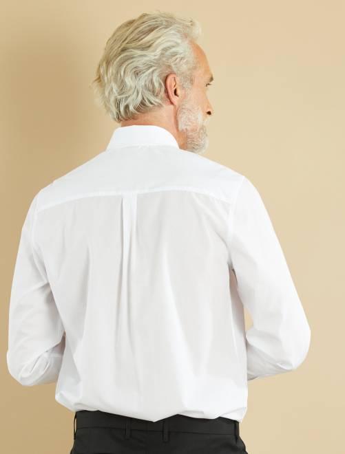 Chemise unie coupe droite homme blanc kiabi 5 60 - Chemise coupe droite homme ...