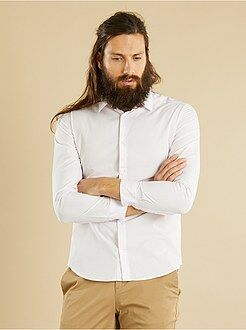 Chemise city - Chemise vichy fitted en popeline
