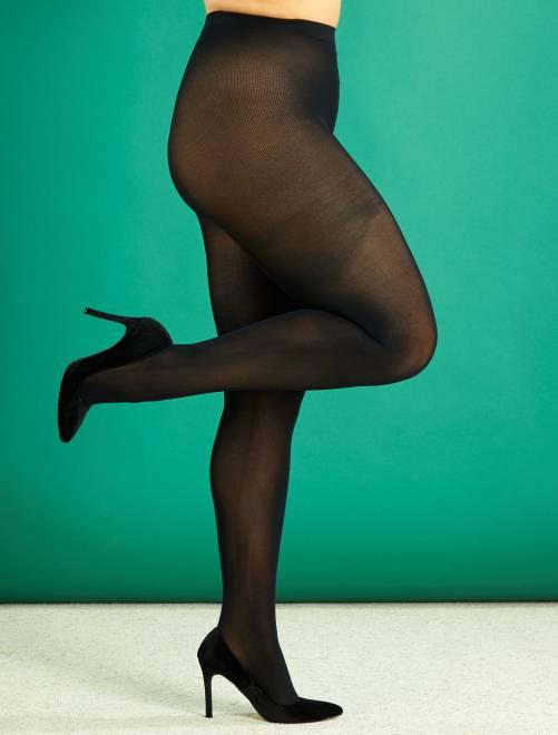 Collants légers 200D grande taille                             noir Grande taille femme
