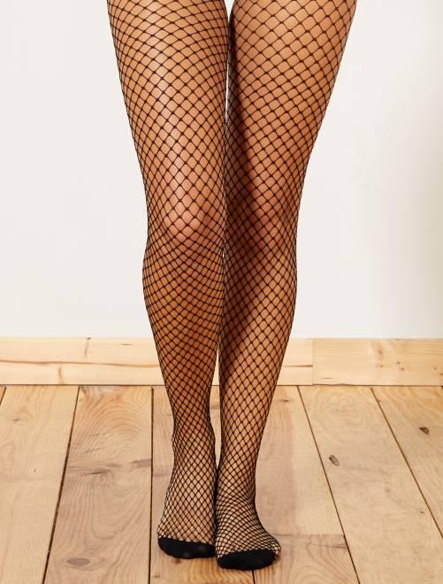 collants r sille lingerie du s au xxl noir kiabi 6 00. Black Bedroom Furniture Sets. Home Design Ideas