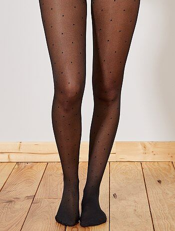 Collants voile plumetis - Kiabi