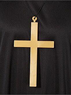 Collier avec pendentif croix de moine - Kiabi
