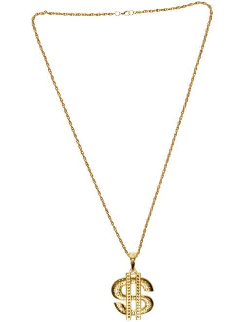 Collier 'Dollar' en métal                              doré Accessoires