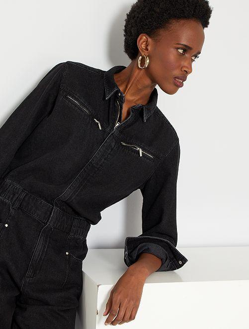 Combinaison en jean                     noir