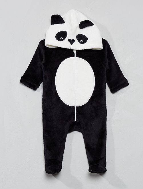 Combinaison en polaire                                         noir panda