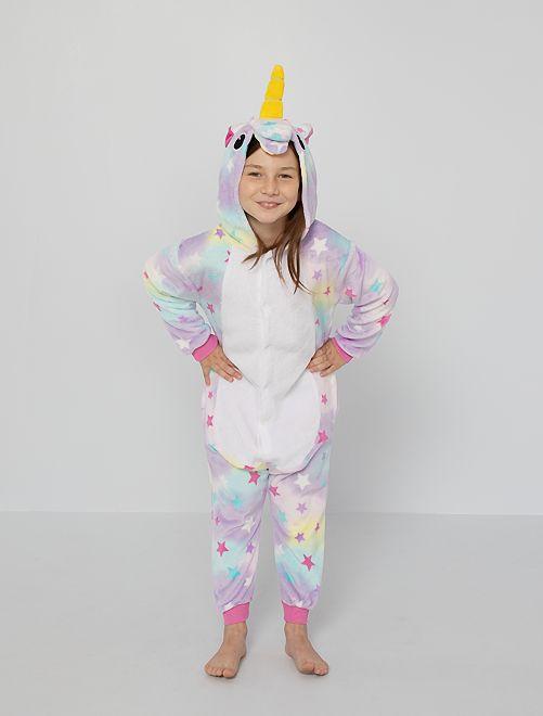 Combinaison pyjama 'licorne'                             multicolore