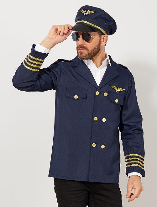 Costume pilote de l'air                             bleu marine Homme