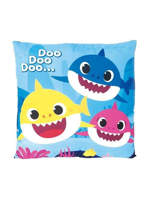 Coussin 'baby shark'                             bleu