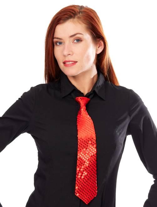 Cravate à sequins                                                                             rouge