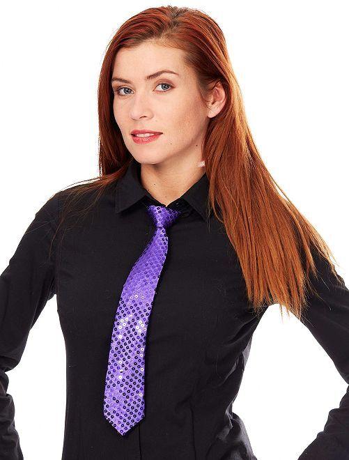 Cravate à sequins                                                                             violet Accessoires