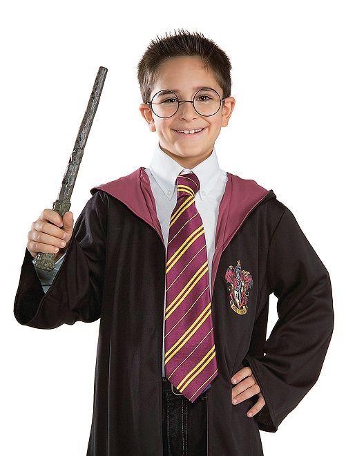 Cravate 'Harry Potter'                             bordeaux/jaune