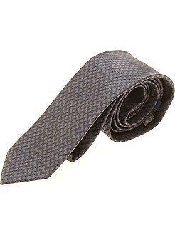 Accessoires - Cravate micro-motif cubique