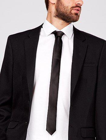 Cravate satin uni                                 noir Homme