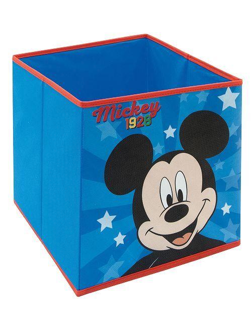 Cube de rangement 'Mickey' pliable                             bleu