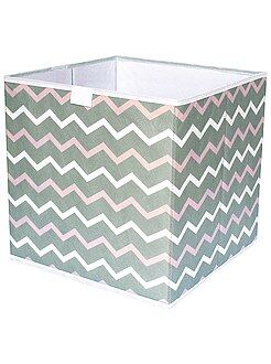Cube de rangement pliable imprimé 'zigzag'