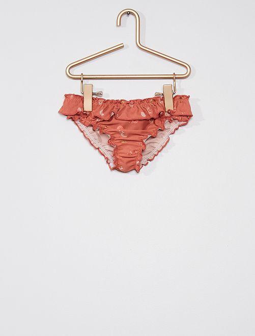 Culotte de bain à motifs                             rose