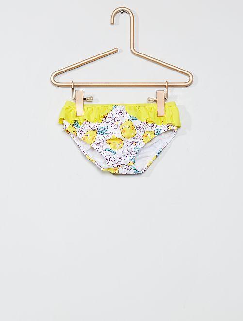 Culotte de bain à volant                             jaune