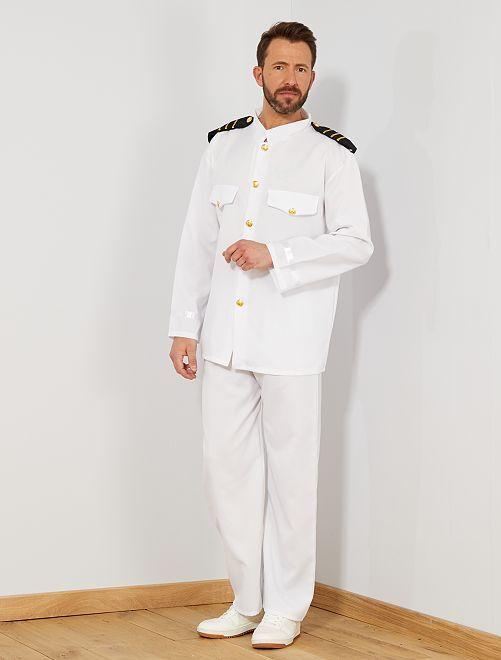 Déguisement de capitaine                             blanc