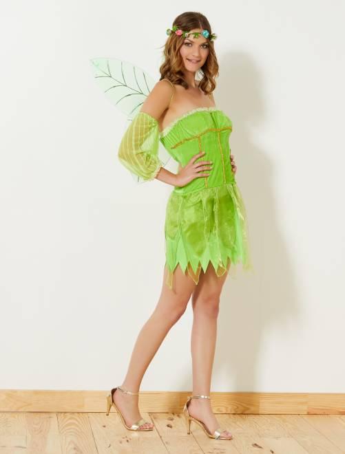 Déguisement de fée verte                             vert