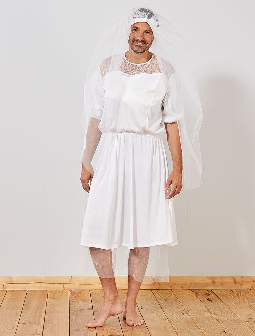 Déguisement de mariée                             blanc