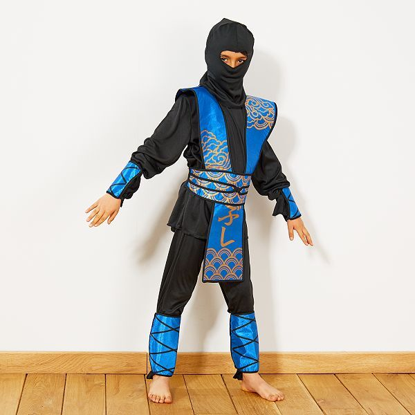 D/éguisement ninja bleu gar/çon 4 /à 6 ans
