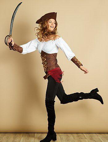 Femme - Déguisement de pirate - Kiabi
