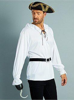 Homme Déguisement de pirate chemise + ceinture