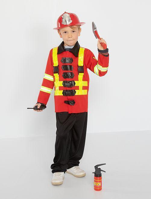Déguisement de pompier                             rouge