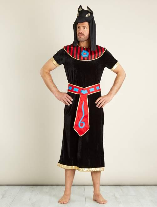 Déguisement de roi égyptien                             noir Homme