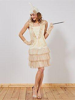 Femme Déguisement robe charleston