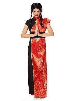 Déguisement femme - Déguisement Robe Chinoise Traditionnelle Femme - Kiabi