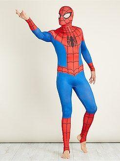 Déguisement homme - Déguisement 'Spiderman' seconde peau avec cagoule - Kiabi