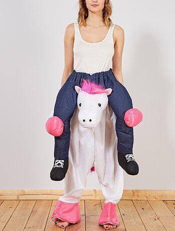 Homme - Déguisement trompe-l'œil cavalière sur licorne - Kiabi