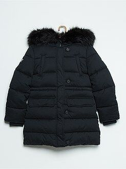 Manteau, veste - Doudoune à capuche fourrée