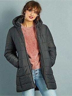 Manteau, veste - Doudoune longue à capuche