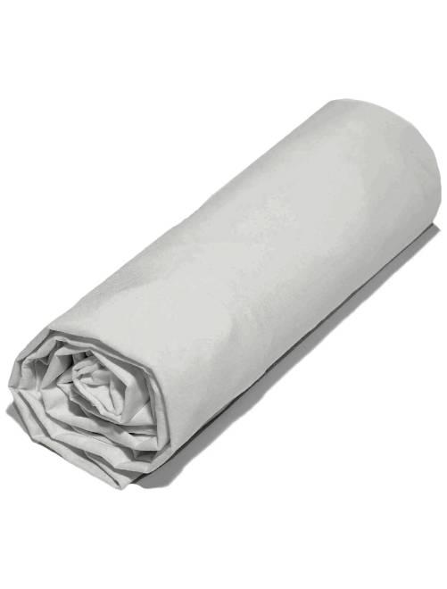 drap housse uni 160 x 200 cm linge de lit gris clair kiabi 12 00. Black Bedroom Furniture Sets. Home Design Ideas