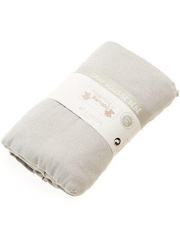 Drap housse uni pour lit bébé - Kiabi