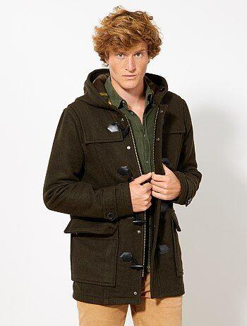 Duffle coat en lainage - Kiabi