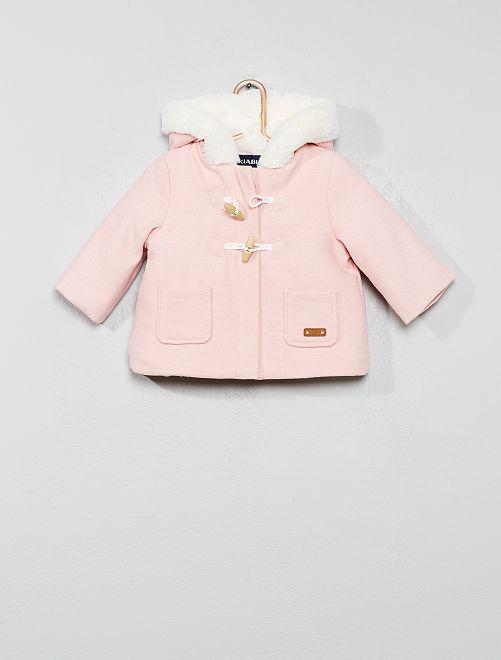 Duffle coat                                                     rose Bébé fille