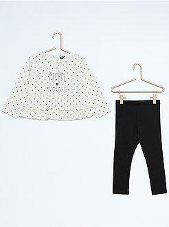 Fille 0-36 mois Ensemble 2 pièces tunique + legging
