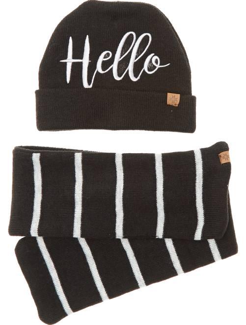 ensemble bonnet et charpe b b gar on noir kiabi 8 40. Black Bedroom Furniture Sets. Home Design Ideas