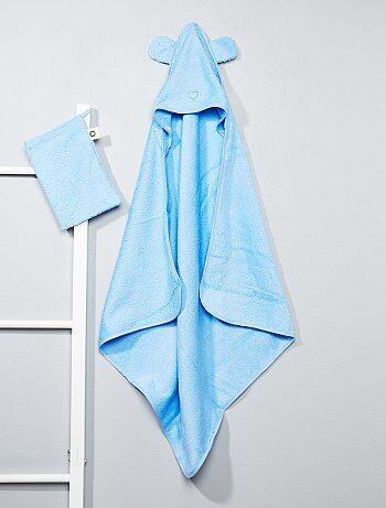 Ensemble cape de bain et gant assorti - Kiabi