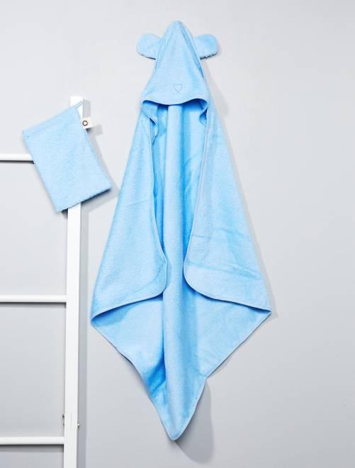 ensemble cape de bain et gant assorti b b gar on kiabi 12 00. Black Bedroom Furniture Sets. Home Design Ideas