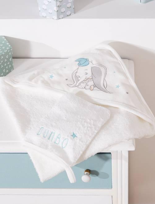 ensemble cape de bain et gant assorti 39 dumbo 39 b b gar on cru kiabi 15 00. Black Bedroom Furniture Sets. Home Design Ideas