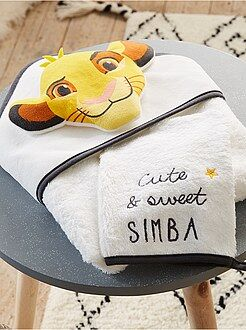 Chambre, bain - Ensemble cape de bain et gant assorti 'Le Roi Lion - Kiabi